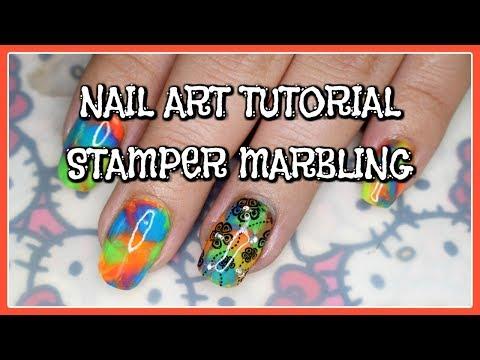 Nail Art Tutorial   Stamper Marbling thumbnail