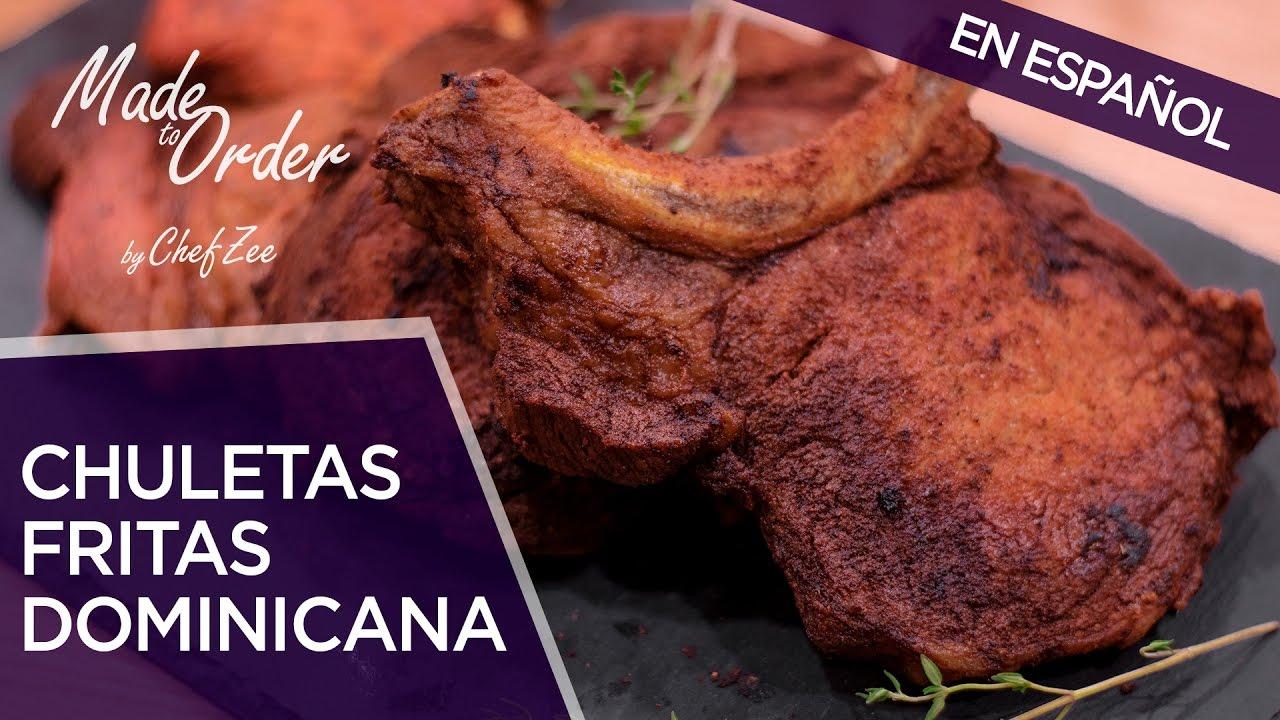 Chuletas Fritas Dominicanas | Recetas Dominicanas | A La Orden | Chef Zee Cooks
