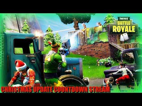 New Fortnite Christmas Update Countdown Stream!