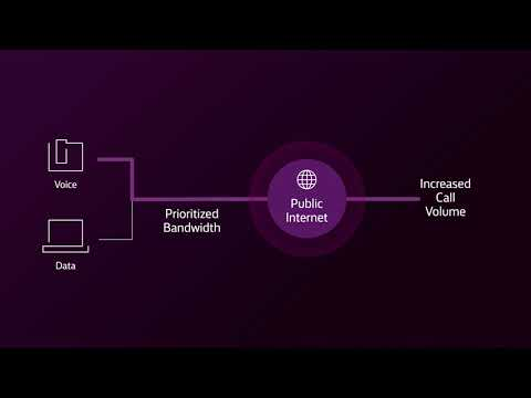 Prioritize bandwidth with Dynamic IP voice services