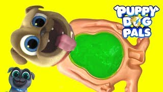Disney Junior Puppy Dog Pals Rolly Slime Belly Full of Toys Surprises