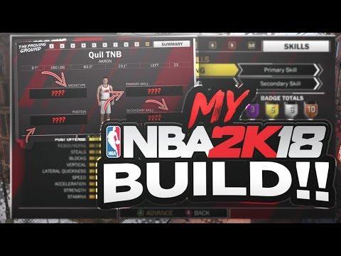 MY NBA 2K18 PLAYER BUILD 🔥