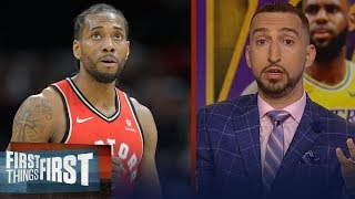 Nick Wright: Kawhi should be the Lakers top target, talks Walton's future   NBA   FIRST THINGS FIRST