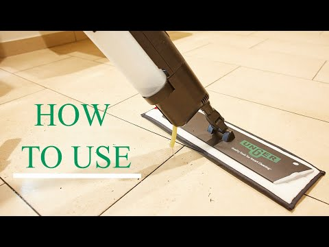 How to use the UNGER erGO! clean floor cleaning system
