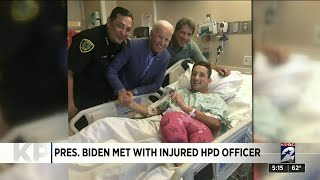 President Biden met with injured HPD officer