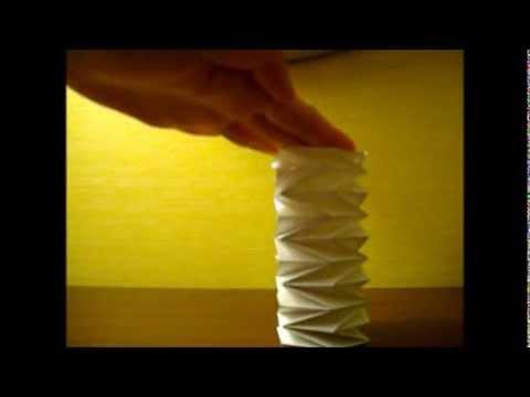 Flat Foldable Compressible Cylinder