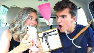 Quizzing My Husband on Female Products **yikes**