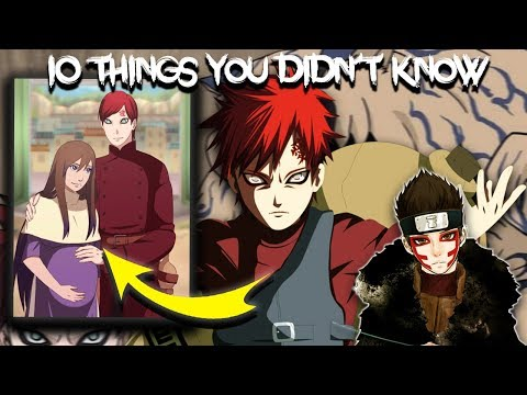 10 Things You Didn † t Know About Gaara - Naruto & Boruto
