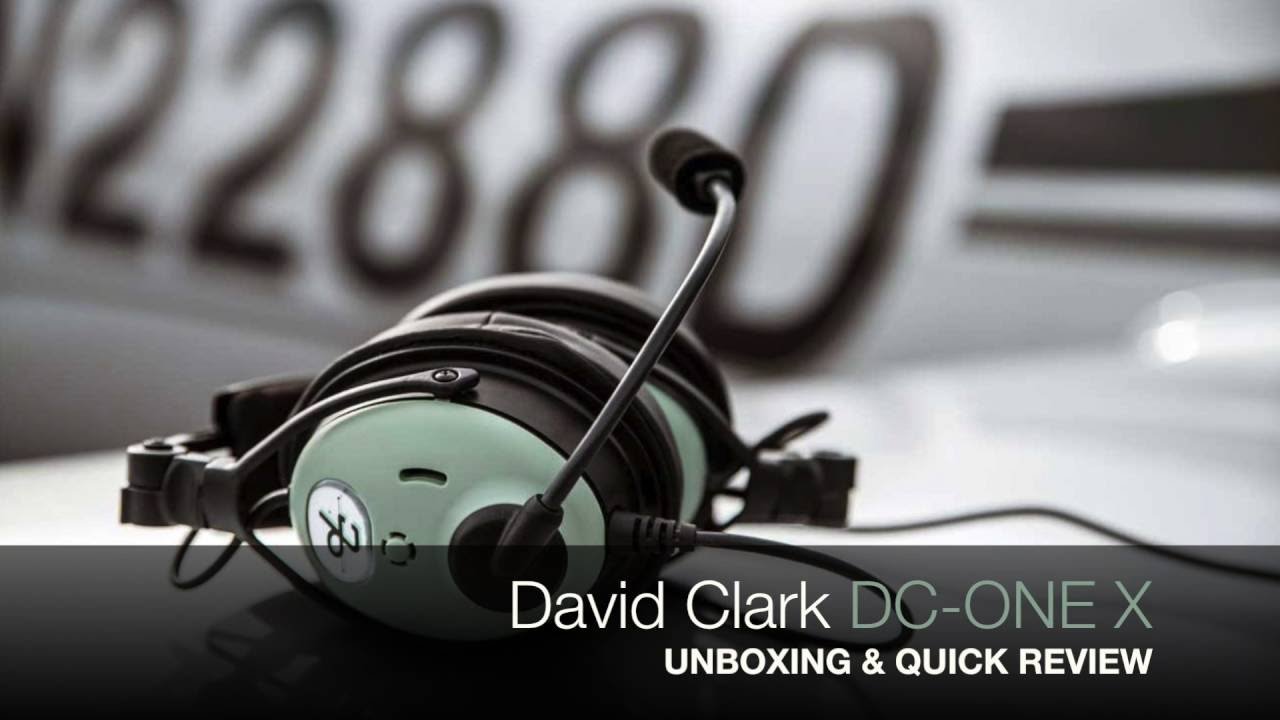 85489f93294 David Clark DC ONE X  Unboxing   Quick Review - YouTube