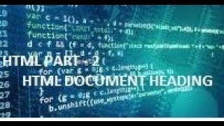 Document Heading -- HTML PART 2 | The Coder Boy Mp3