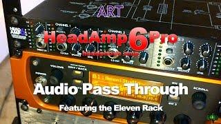 ART HeadAmp6Pro Headphone Amp - Audio Pass Through When Off - Demo