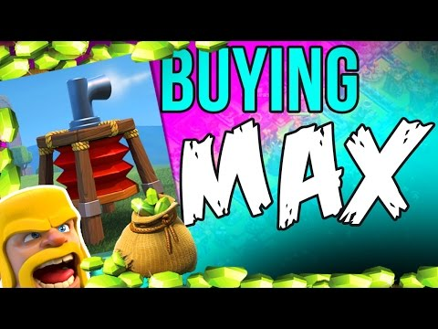 BUYING MAX AIR SWEEPER  |  CLASH OF CLANS NEW DEFENSE   GEMMING