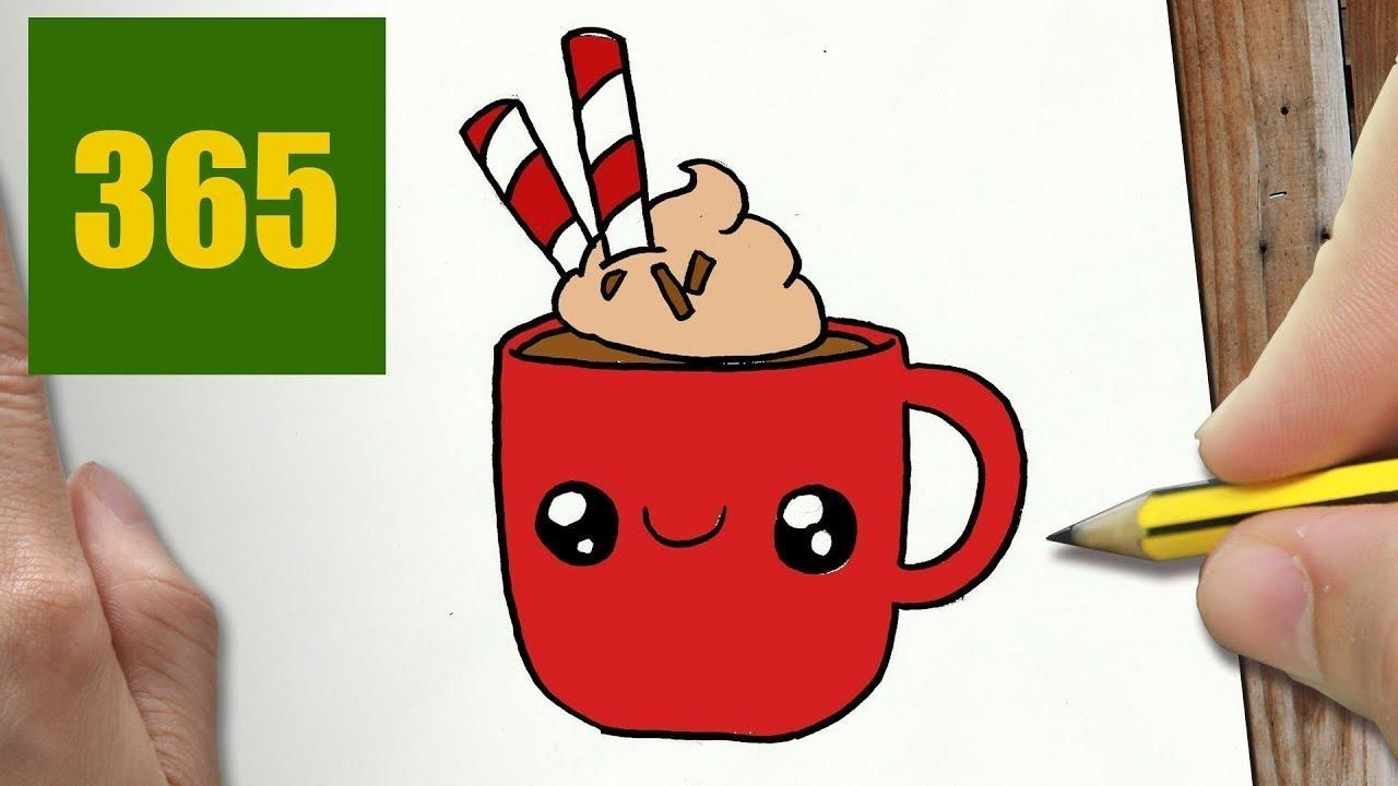 Immagini Natalizie Kawaii.Come Disegnare Tazza Di Natale Kawaii Passo Dopo Passo Disegni