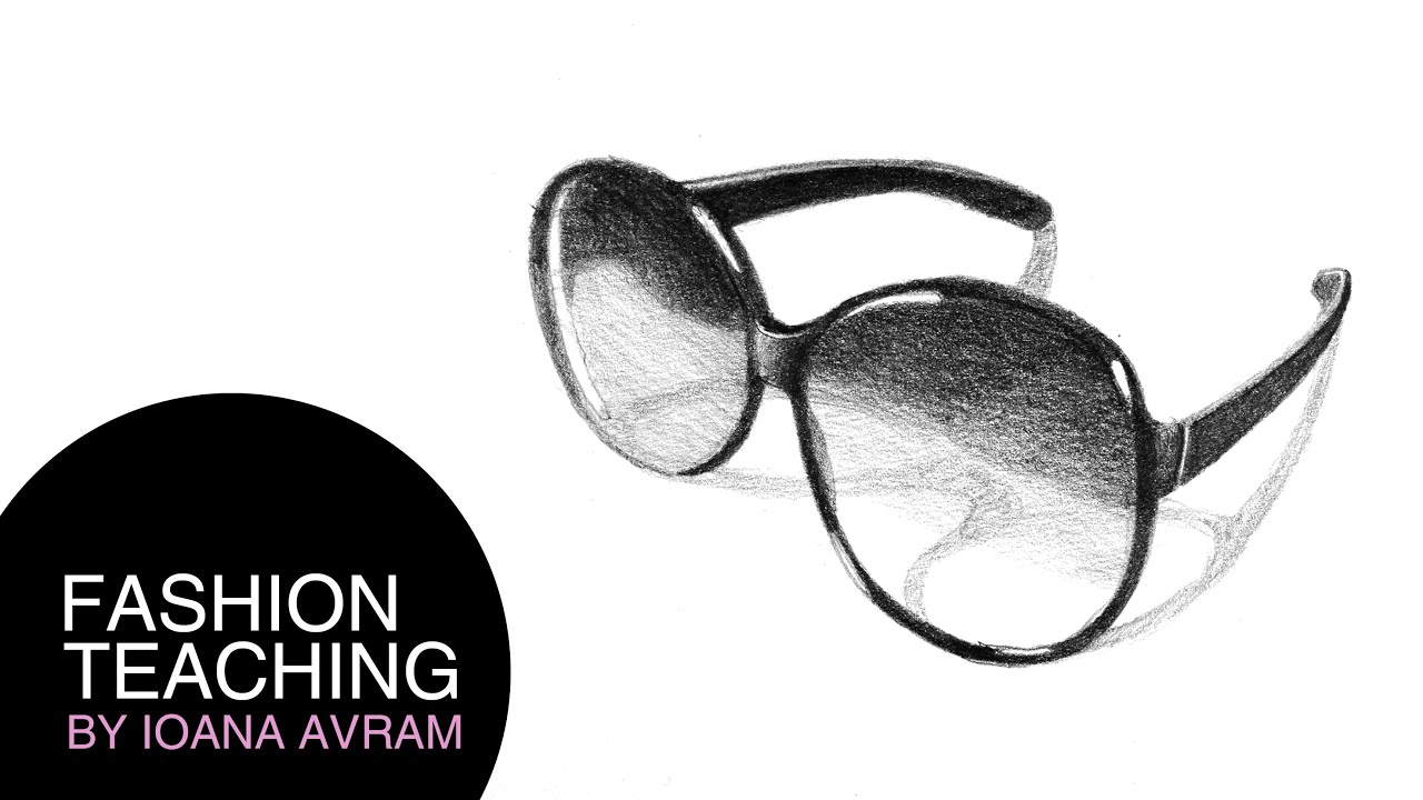 How to draw sunglasses - YouTube