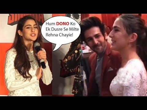 Sara Ali Khan's EMBARRASSED REACTION On Being Asked About Dating Kartik Aaryan