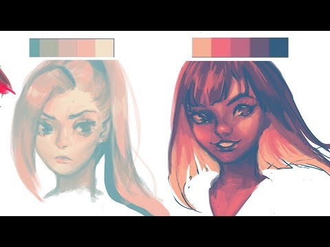 digital painting with palettes (photoshop)