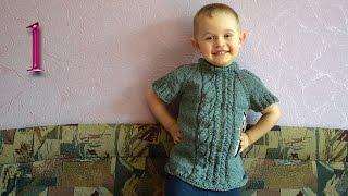Как связать детскую безрукавку (бесшовную) вязание спицами