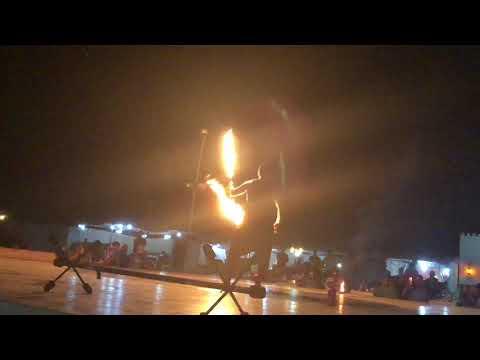 Dubai desert safari fire show