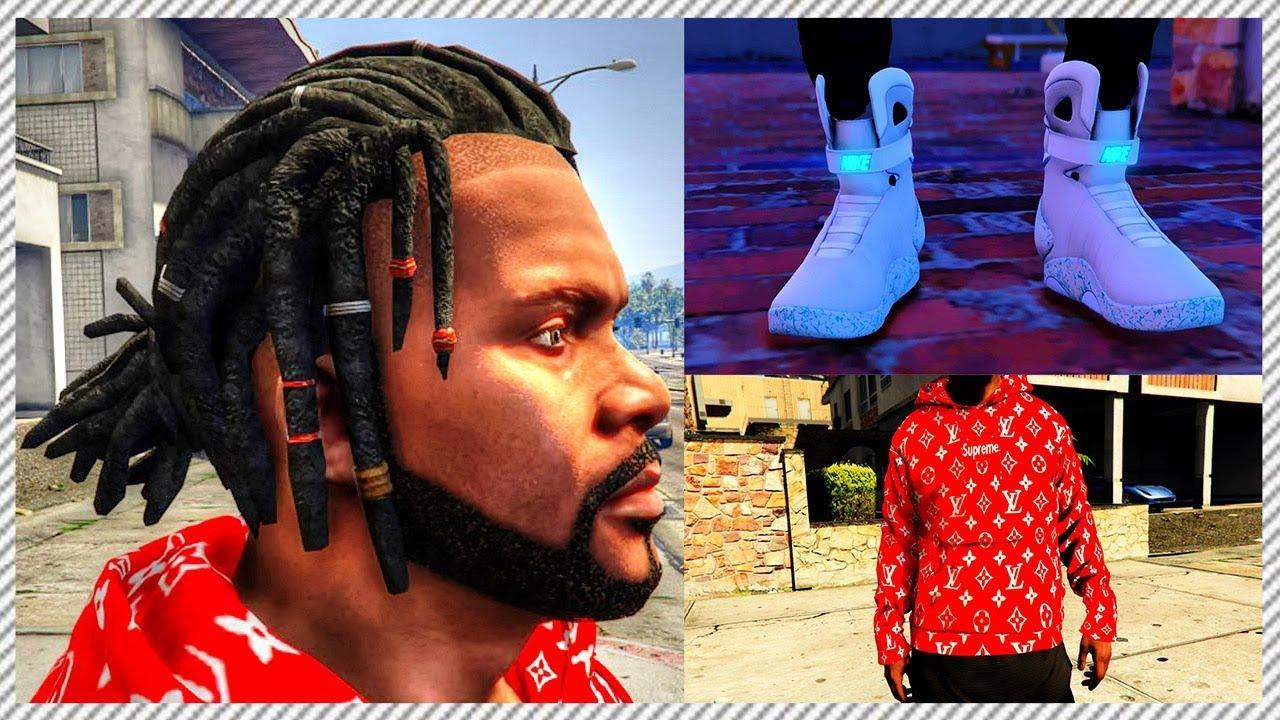 GTA 5 REAL LIFE MOD #30 - NEW $10,000 Nike Air Mags, NEW Supreme LOUIS  VUITTON Hoodie & NEW Hair!!!