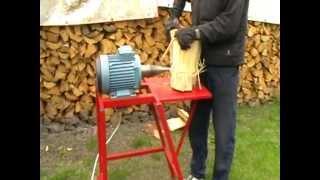 Repeat youtube video Łuparka do drewna 1,3kW