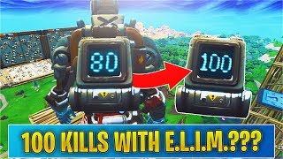 What Happens when you get 100 KILLS with the E.L.I.M Backpack? (fortnite)