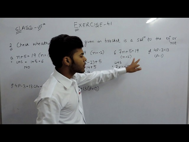 Exercise 4.1 - Question 2 (a,b,c,d,e,f) NCERT Solutions for Class 7th Maths