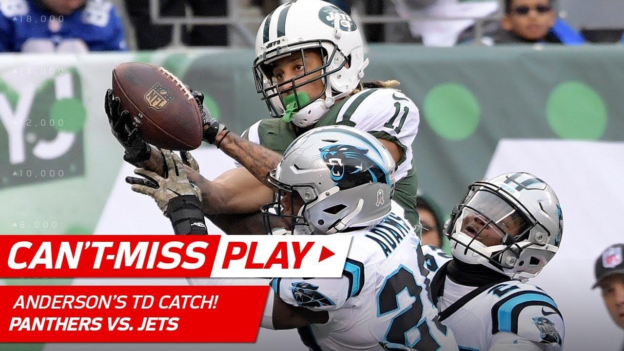 ed766bea064 Robby Anderson's Unbelievable TD Catch in Double Coverage! | Can't-Miss  Play | NFL Wk 12 Highlights