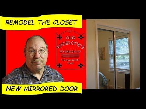 Installing Mirrored Sliding Closet Doors -  By Old Sneelock's Workshop