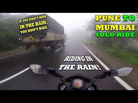 RIDING IN THE RAIN | PUNE TO MUMBAI | SOLO RIDE | KTM RC 390