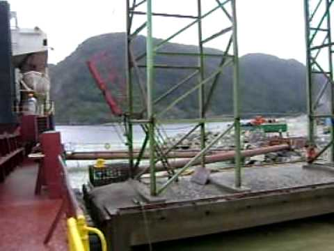 CARGO OPERATIONS: 'MV Durrington' Loading Cargo of Stones