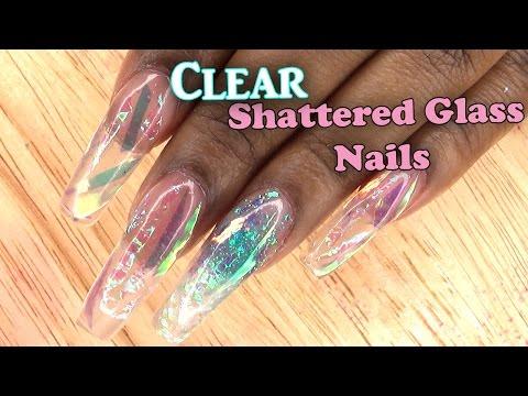 Acrylic Nails Tutorial | Clear Shattered Glass Nails | Encapsulated Nails | Full Set | Nail Tips |