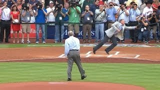 Nolan Ryan, Craig Biggio combine on first pitch