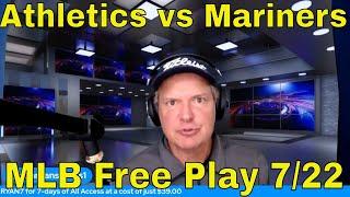 MLB Picks and Predictions | Athletics vs Mariners Betting Preview | The Predictive Playbook July 22
