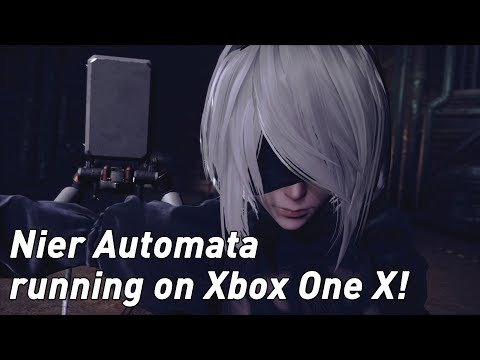 Nier Automata: Xbox One X Gameplay Footage (4K)