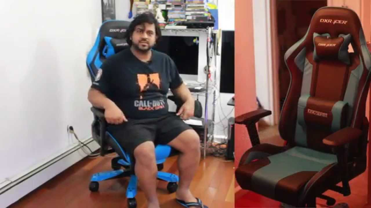 DX Racer Chair Unboxing Assembly and Review Blue King