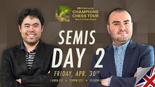$1.5M Meltwater Champions Chess Tour: New In Chess Classic | SF Day 2 | P.Leko & T.Sachdev