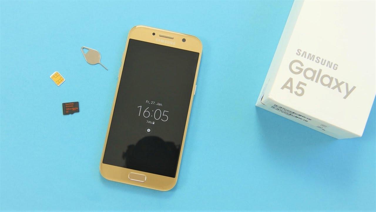 Samsung A5 Sd Karte Einlegen.Samsung Galaxy A5 2017 Nanosim Microsd Einlegen Deutsch
