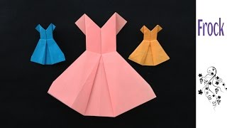 Origami Paper Dress tutorial - 'Frock