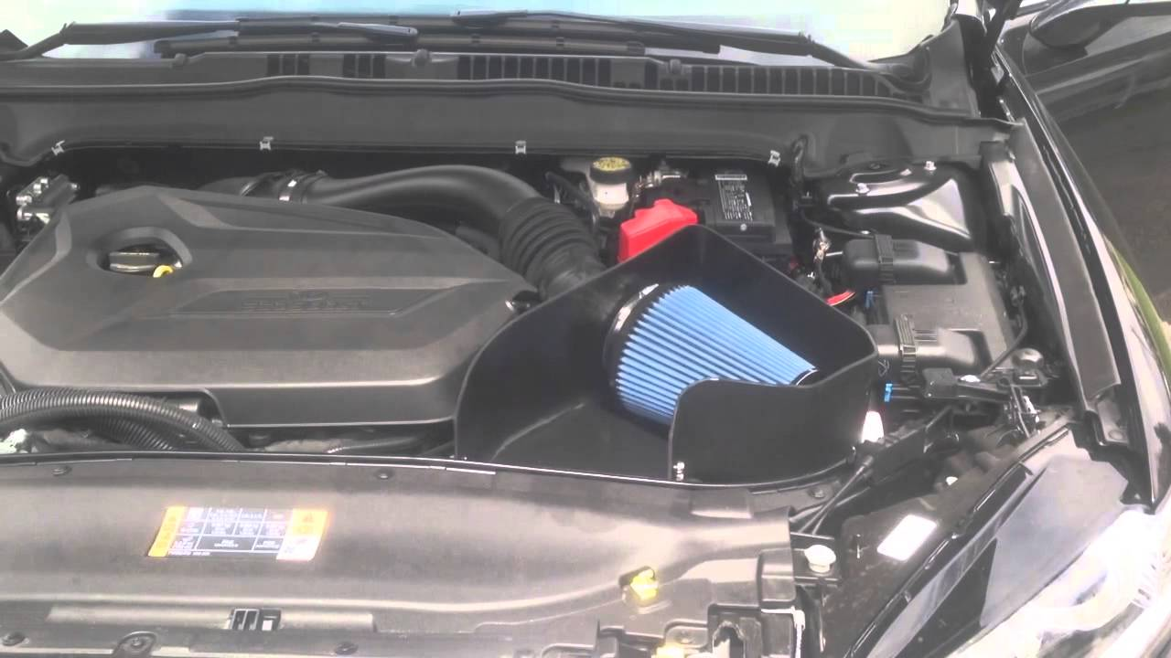 Ford Fusion Ecoboost 2013 >> 2014 Ford Fusion 1.6L ecoboost turbo Steeda Cold Air Intake - YouTube