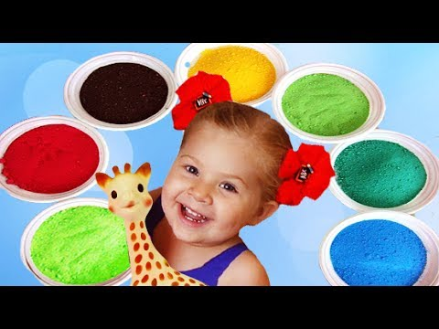 Thumbnail: Kids Playing with Сolored Sand | Learn colors Song Finger Family Nursery Rhymes for kids сolours