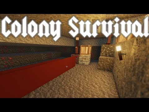 Colony Survival - Deep dangerous Mines & First Science Bags! - Episode 5