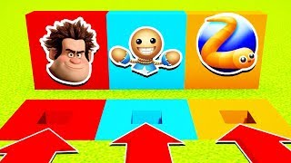DO NOT CHOOSE THE WRONG HOLE(SLITHER.IO,WRECK IT RALPH,KICK THE BUDDY) PS4/XboxOne/PE/MCPE)