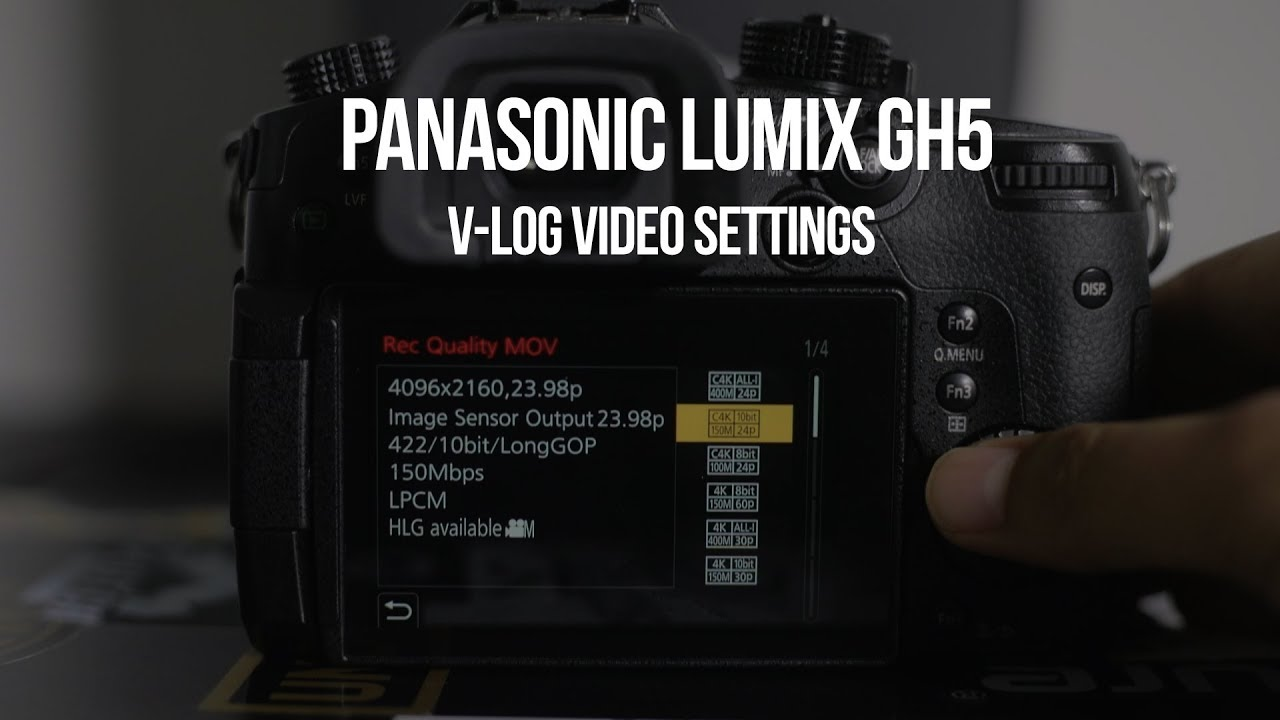 GH5 Video Settings for Music Videos (V-LOG L & Firmware Update)