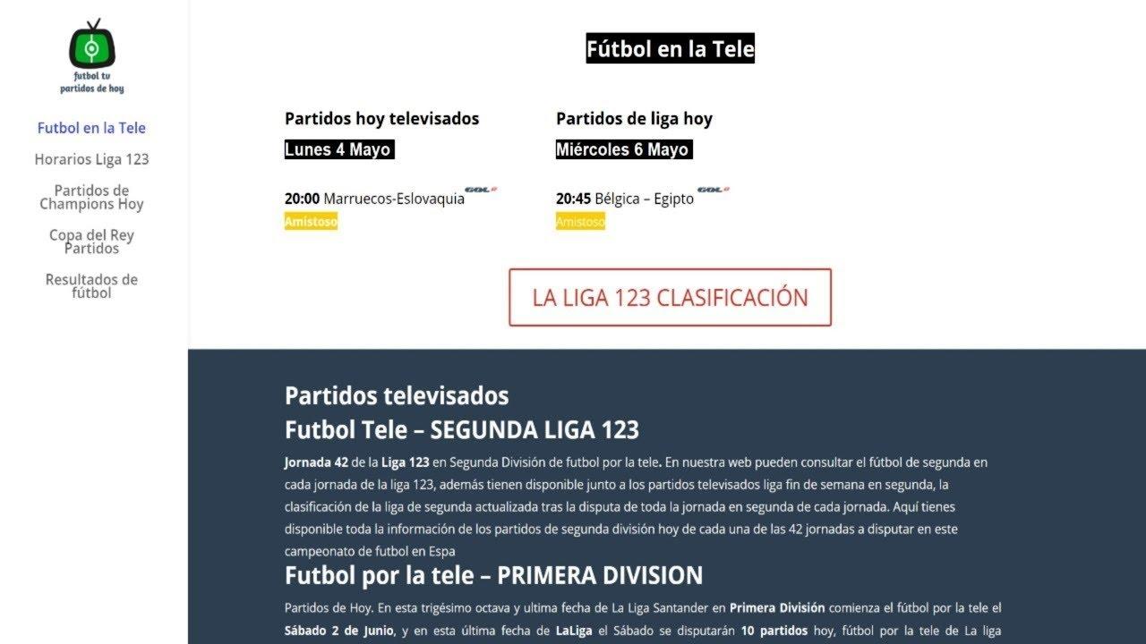 0f6b5e6c6a36f Partidos de Segunda Hoy Televisados