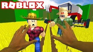 Roblox réaliste - ESCAPE THE FARM OBBY (fr) ROBLOX ESCAPE THE EVIL FARM OBBY!
