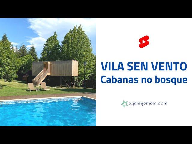 CABANAS NO BOSQUE 🏕 Vila sen Vento 🛀🏼 #short #shorts
