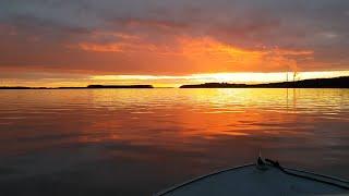 Едем с рыбалки Закат и Восход Красивые места реки Амур