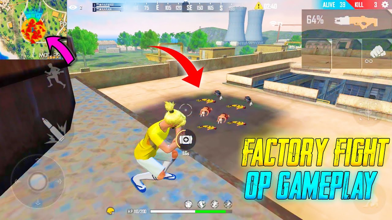 Factory Fight Duo vs Squad Amazing Gameplay 24 Kills Total || Garena Free Fire || P.K. GAMERS