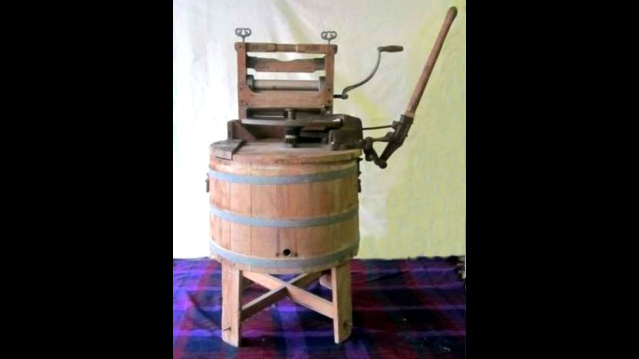 wooden washing machine