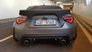 580HP Subaru BRZ 6.2l V8 LS3 Rocket Bunny - Start, Revs, POP & BANGS!